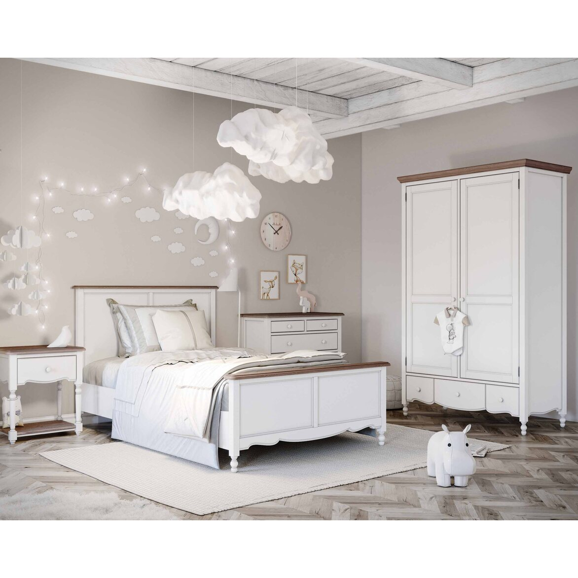 Шкаф двухстворчатый Leblanc, белый 7 | Платяные шкафы Kingsby