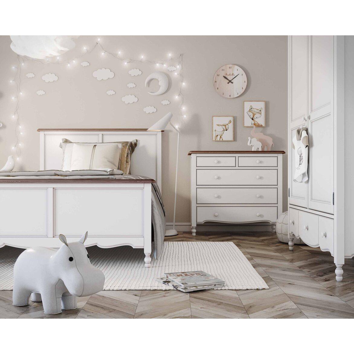 Кровать односпальная 120*200 Leblanc, белая 7 | Односпальные кровати Kingsby