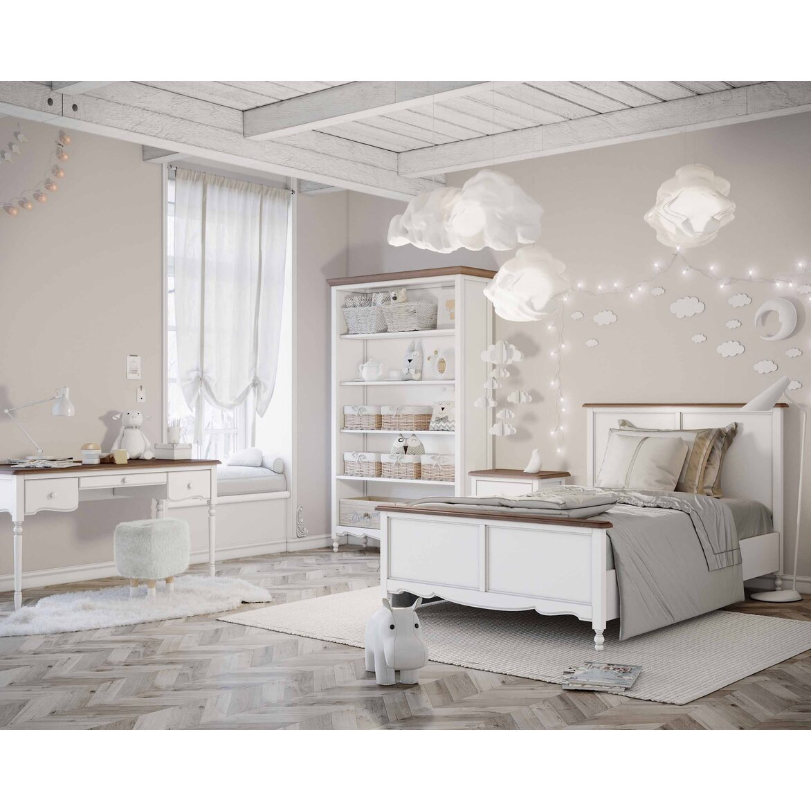 Шкаф двухстворчатый Leblanc, белый 4 | Платяные шкафы Kingsby