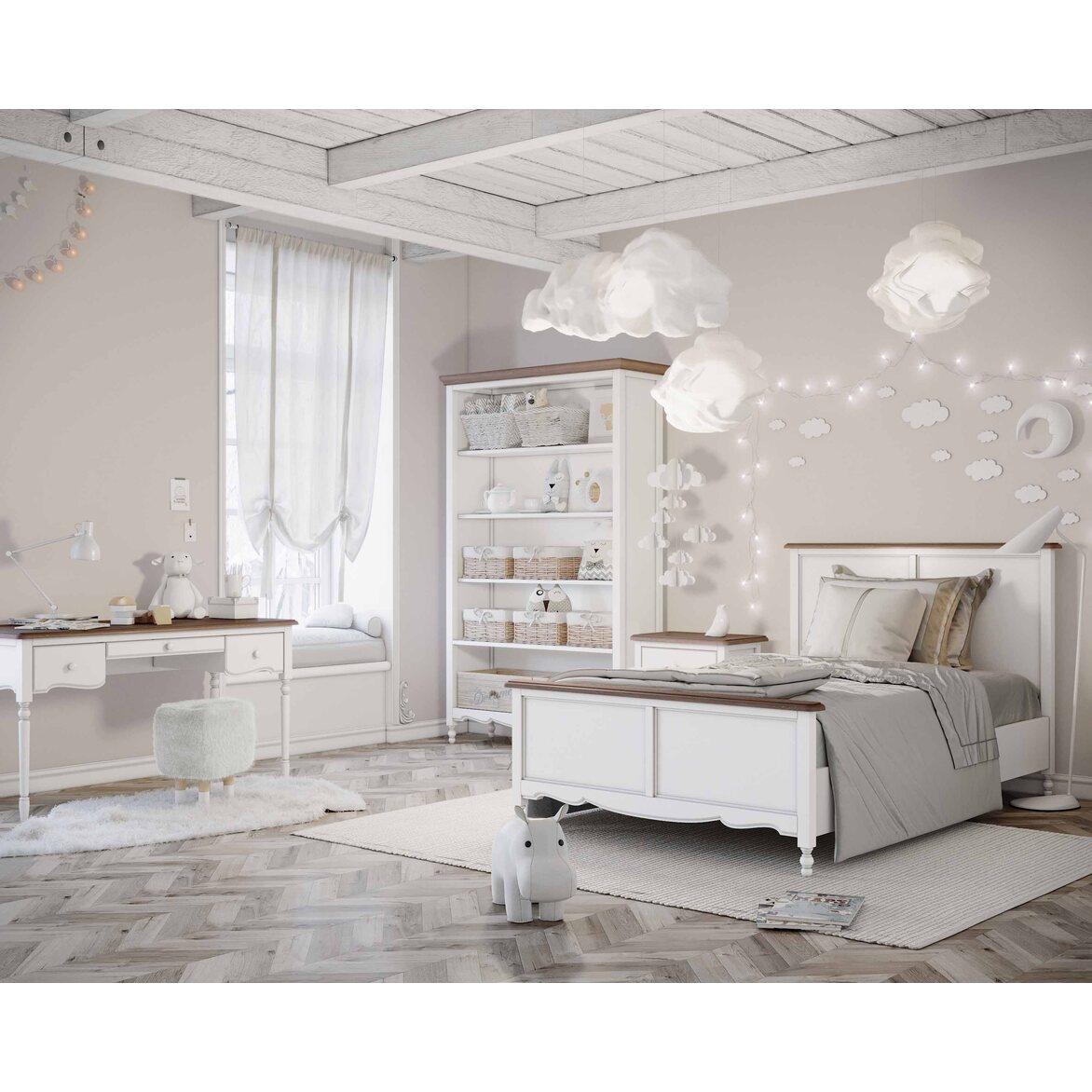 Кровать односпальная 120*200 Leblanc, белая 3 | Односпальные кровати Kingsby