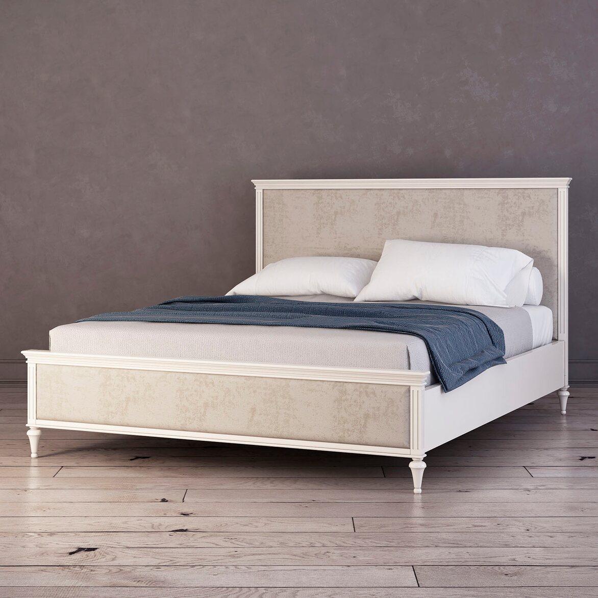 Кровать Riverdi с мягким изголовьем 2 | Двуспальные кровати Kingsby