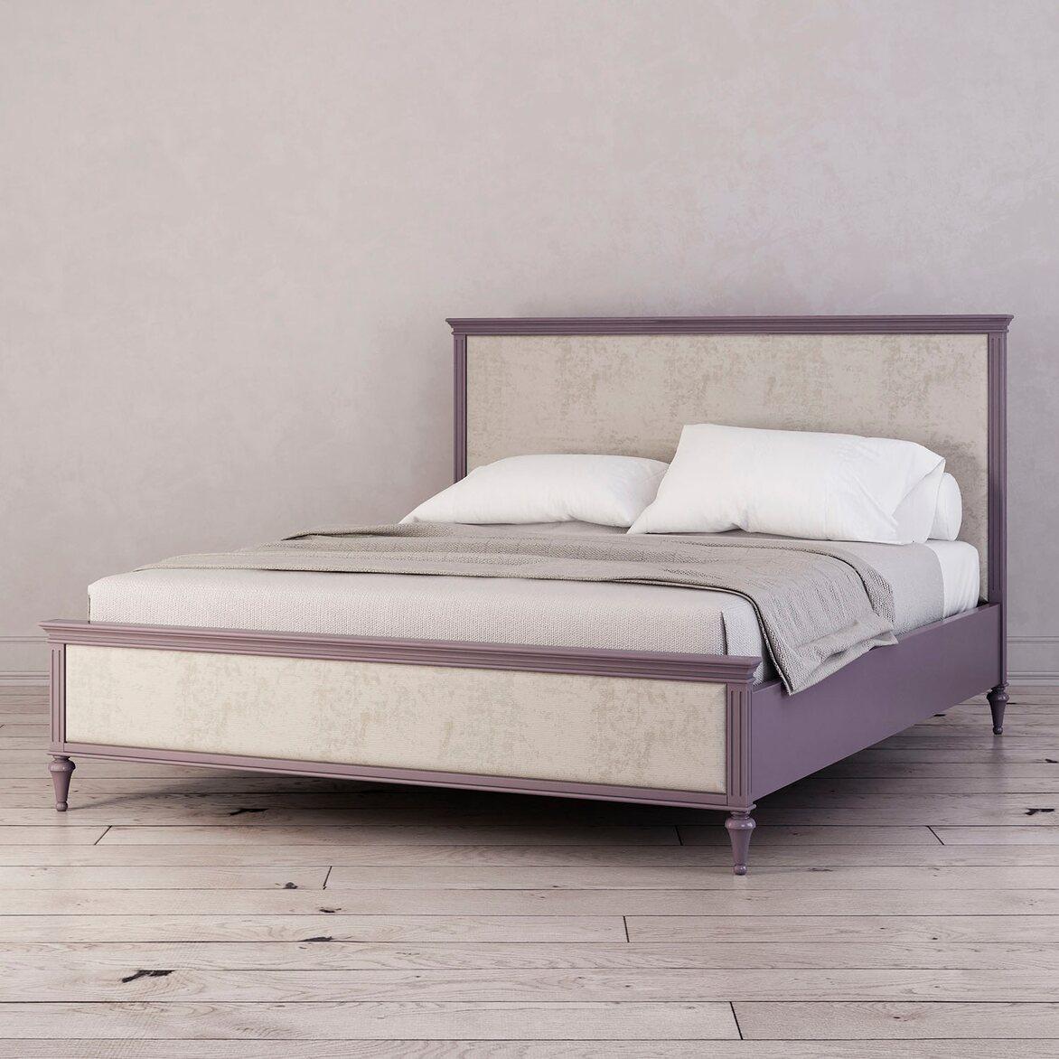 Кровать с мягким изголовьем 160*200 Riverdi, орхидея 2 | Двуспальные кровати Kingsby