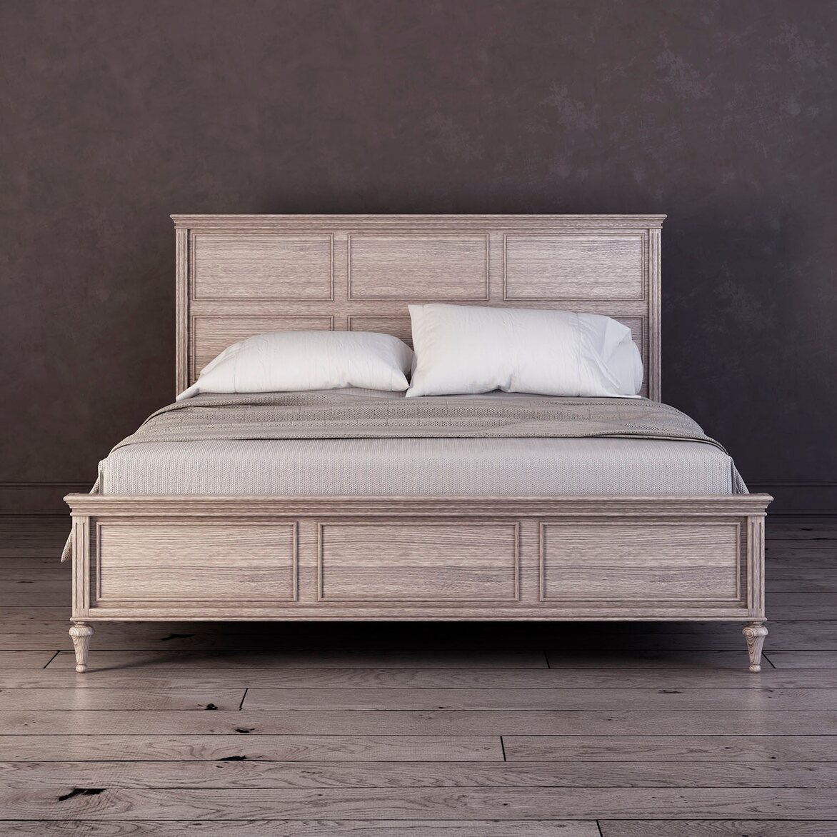 Кровать 160*200 Riverdi, светлый дуб | Двуспальные кровати Kingsby