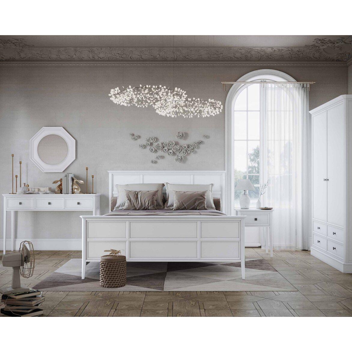 Кровать Ellington, белая, с изножьем 3 | Двуспальные кровати Kingsby