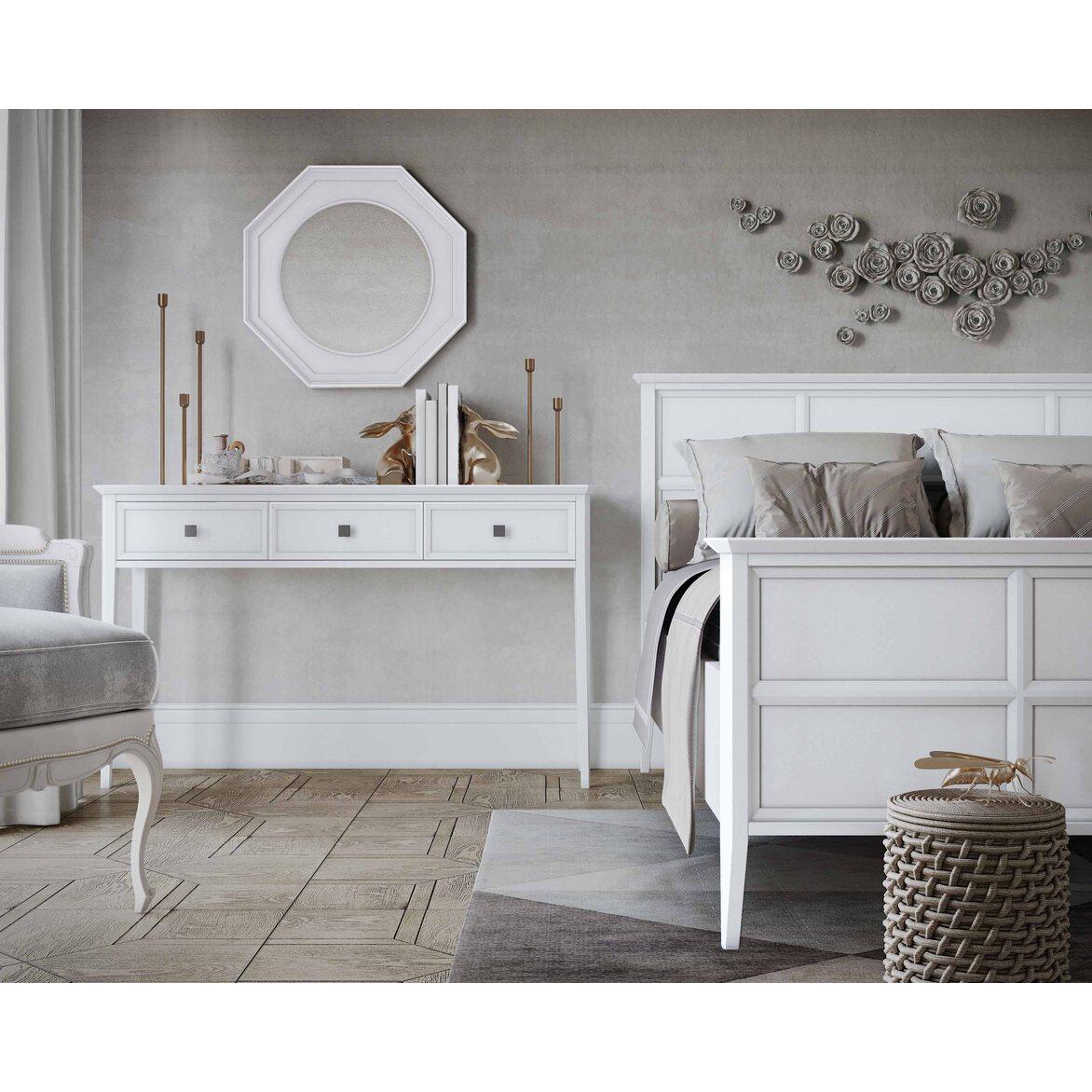 Кровать Ellington, белая, с изножьем 5 | Двуспальные кровати Kingsby