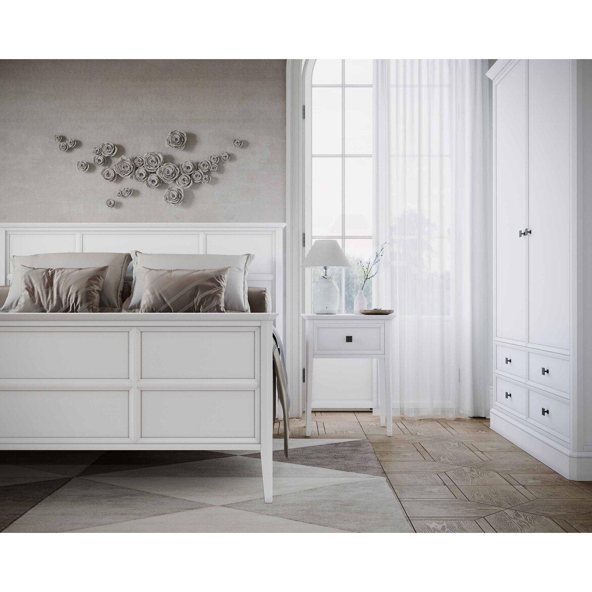 Кровать Ellington, белая, с изножьем 6 | Двуспальные кровати Kingsby