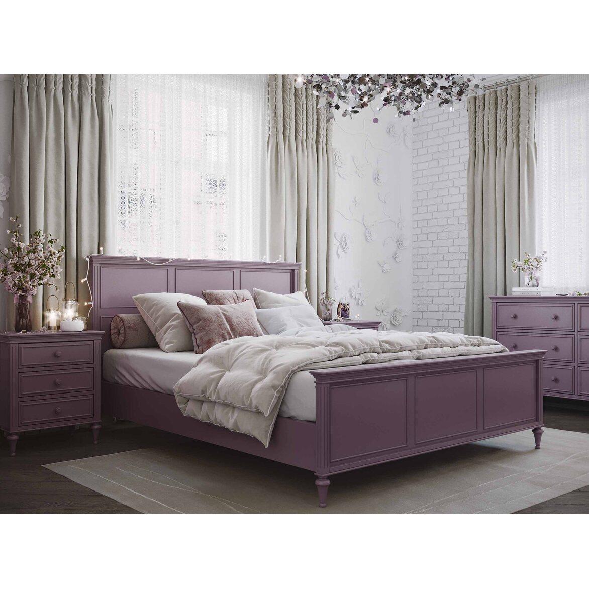 Кровать 180*200 Riverdi, орхидея, с изножьем 4 | Двуспальные кровати Kingsby