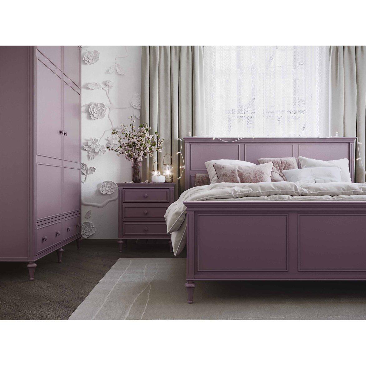 Кровать 180*200 Riverdi, орхидея, с изножьем 5 | Двуспальные кровати Kingsby