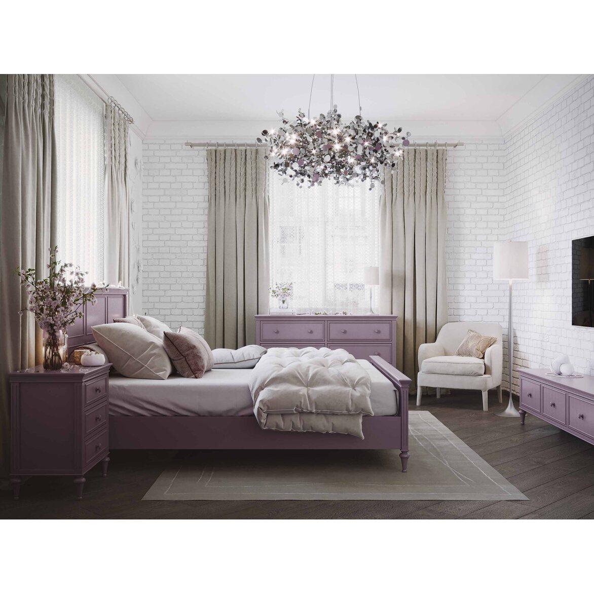 Кровать 180*200 Riverdi, орхидея, с изножьем 6 | Двуспальные кровати Kingsby