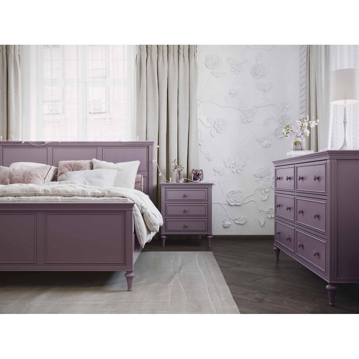Кровать 180*200 Riverdi, орхидея, с изножьем 7 | Двуспальные кровати Kingsby