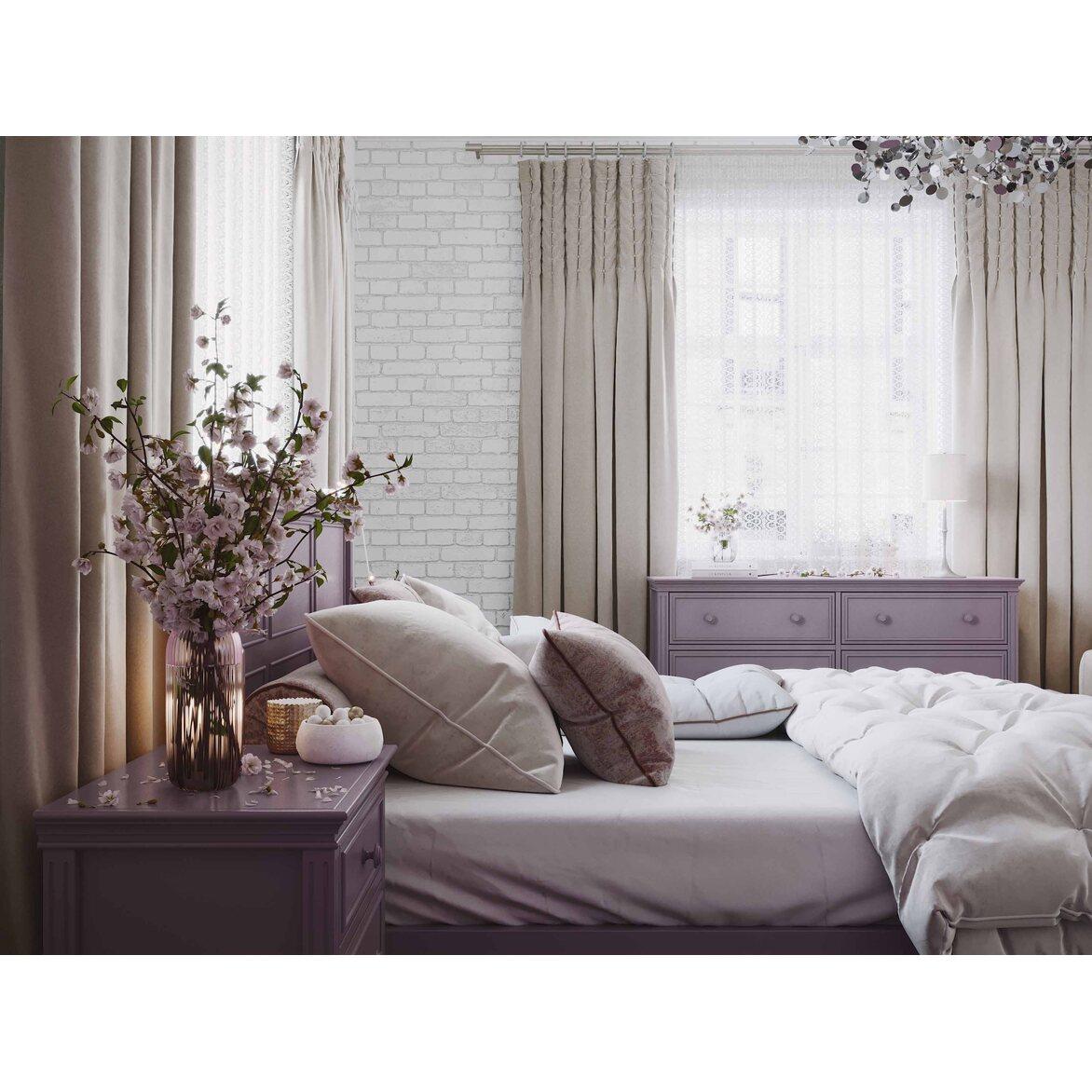 Кровать 180*200 Riverdi, орхидея, с изножьем 8 | Двуспальные кровати Kingsby