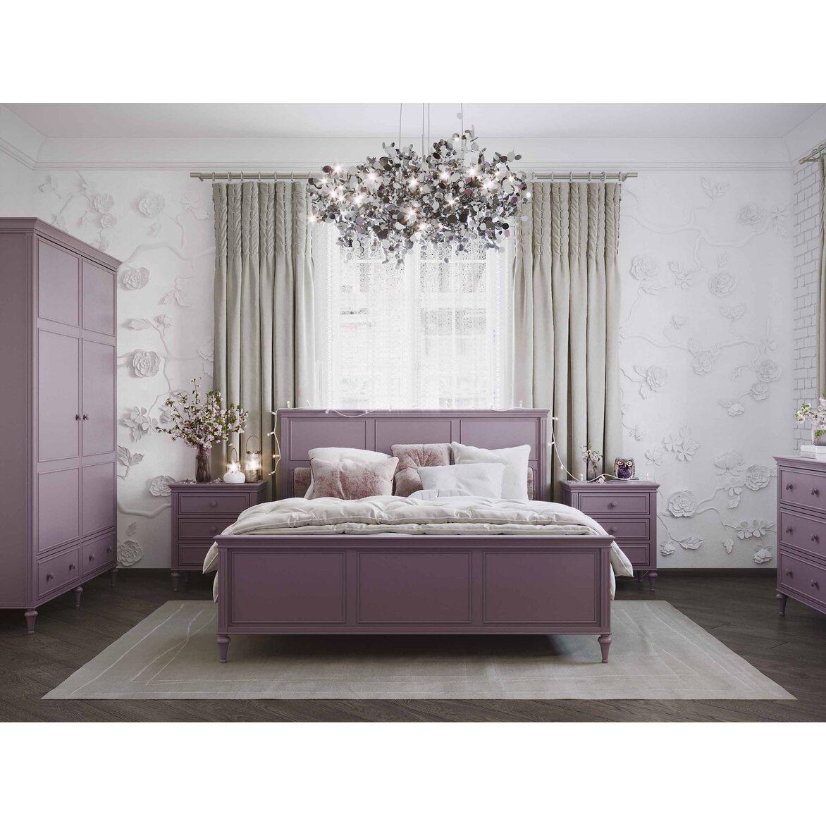 Кровать 180*200 Riverdi, орхидея, с изножьем 3 | Двуспальные кровати Kingsby