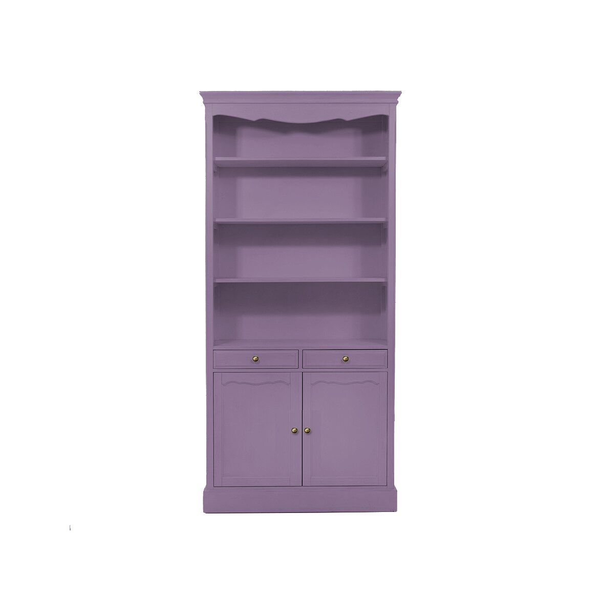 Стеллаж с 2-я ящиками Leontina, лавандового цвета | Стеллажи Kingsby