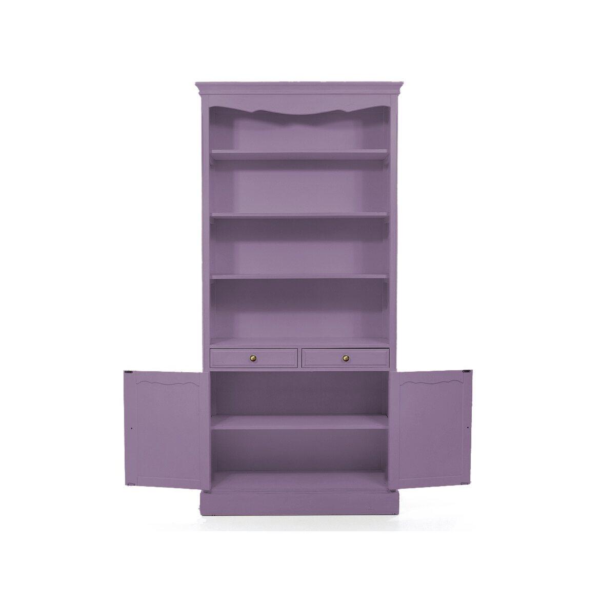 Стеллаж с 2-я ящиками Leontina, лавандового цвета 2 | Стеллажи Kingsby