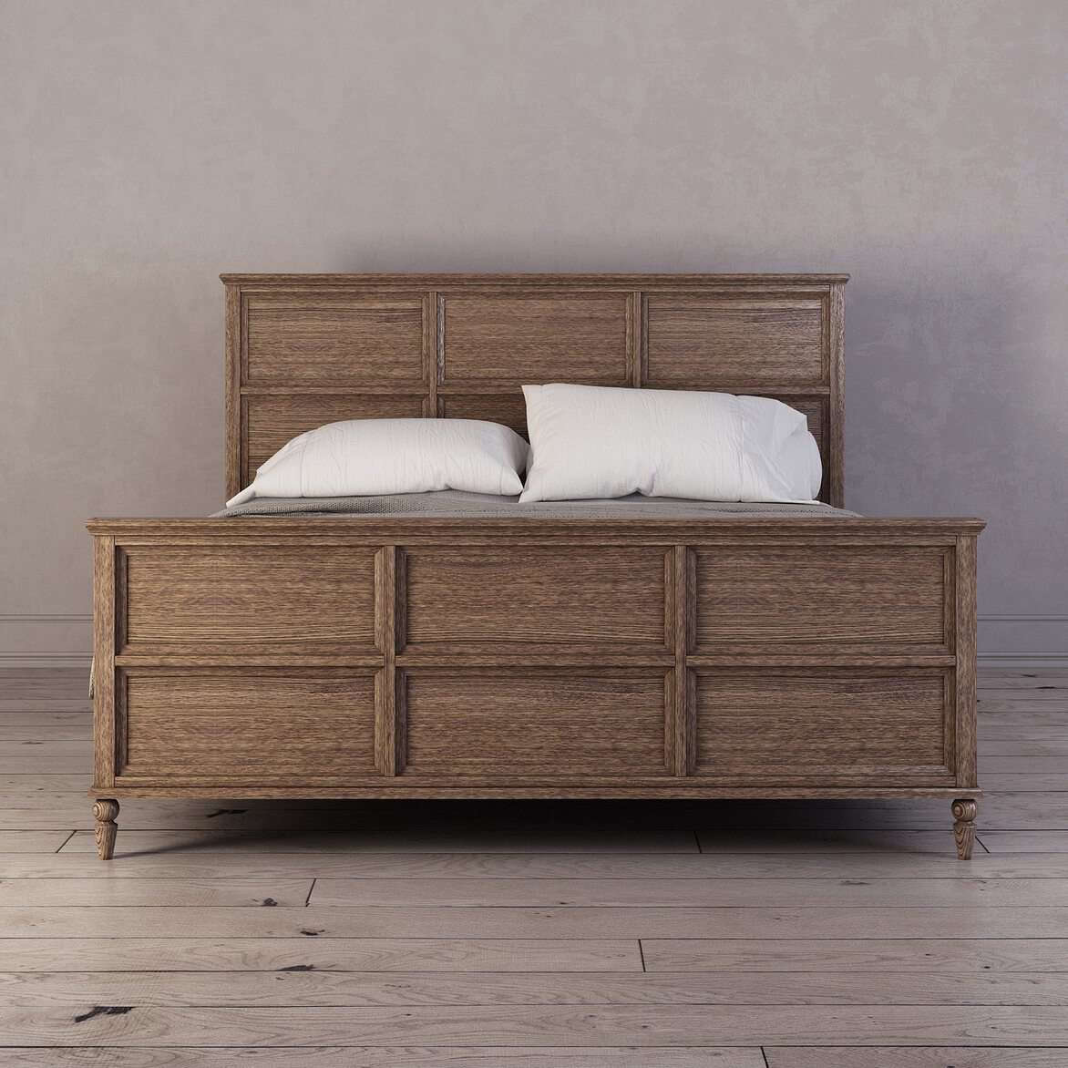 Кровать Vilton дуб, с изножьем | Двуспальные кровати Kingsby
