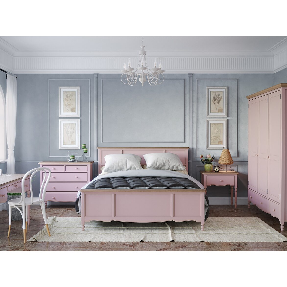 Кровать односпальная 120*200 Leblanc, лаванда 3 | Односпальные кровати Kingsby