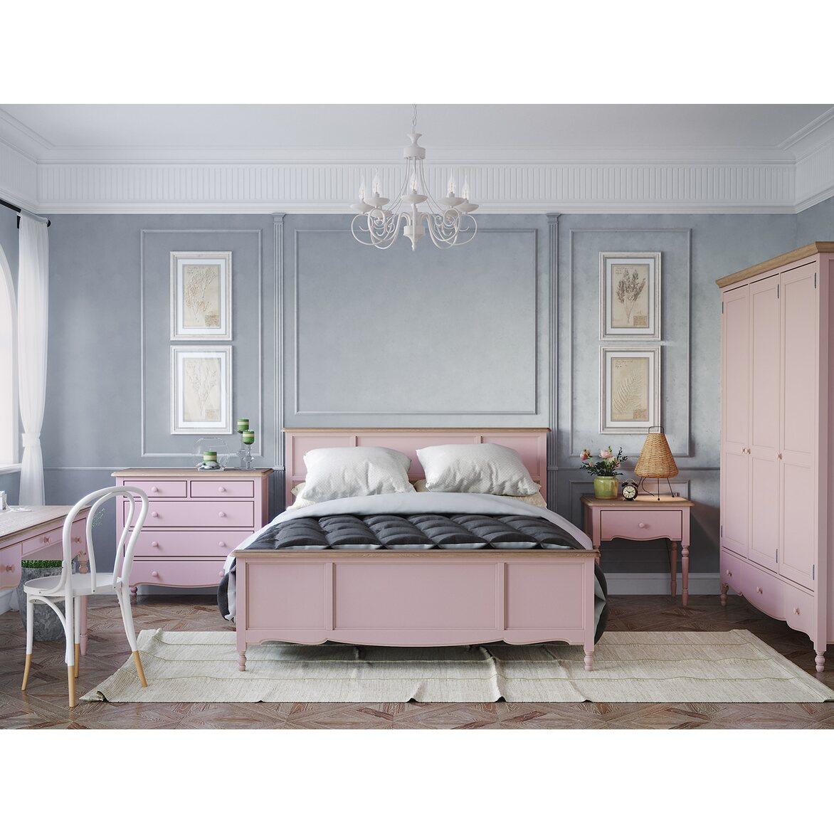Кровать двуспальная 160*200 Leblanc, лаванда 3 | Двуспальные кровати Kingsby