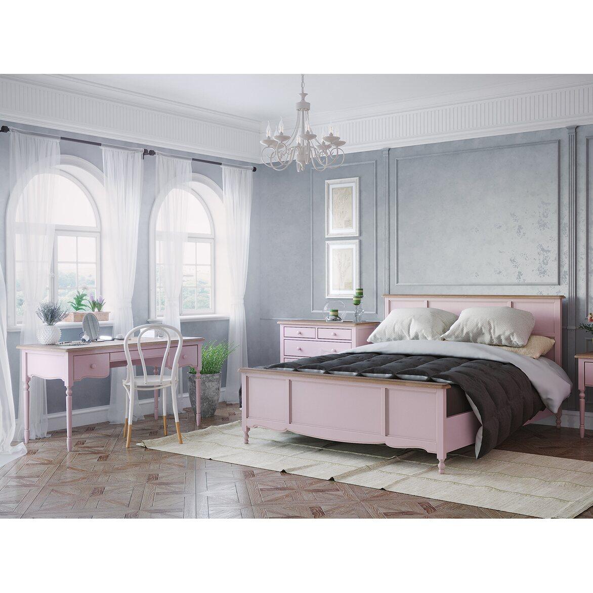 Кровать Leblanc лаванда, с изножьем 4 | Двуспальные кровати Kingsby