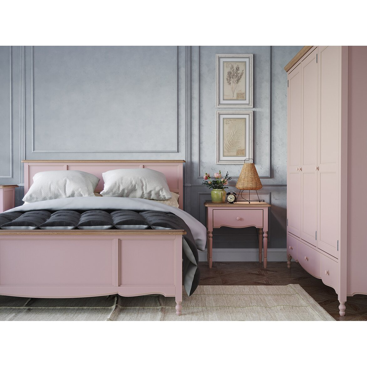 Кровать односпальная 120*200 Leblanc, лаванда 5 | Односпальные кровати Kingsby