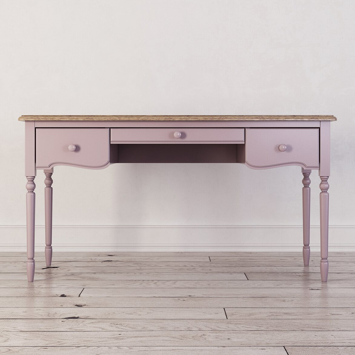 Письменный стол с 3-я ящиками Leblanc, лаванда | Письменные столы Kingsby