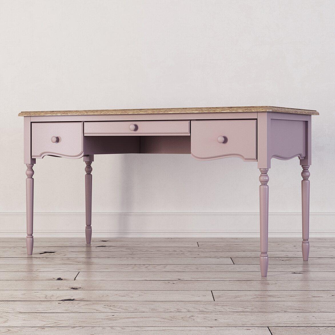 Письменный стол с 3-я ящиками Leblanc, лаванда 2 | Письменные столы Kingsby