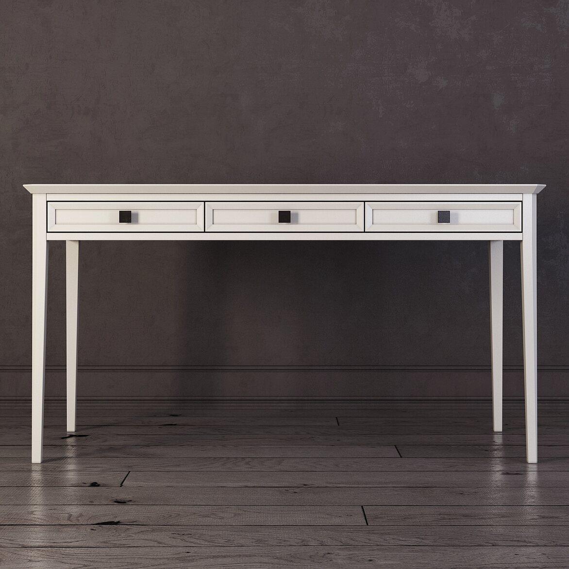 Письменный стол с 3-я ящиками Ellington, белый | Письменные столы Kingsby