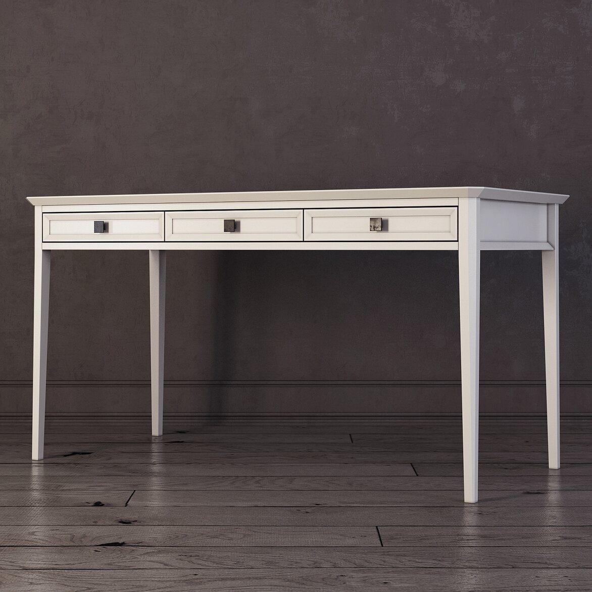 Письменный стол с 3-я ящиками Ellington, белый 2 | Письменные столы Kingsby