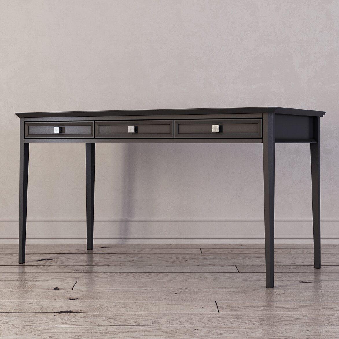 Письменный стол с 3-я ящиками Ellington, черный 2 | Письменные столы Kingsby