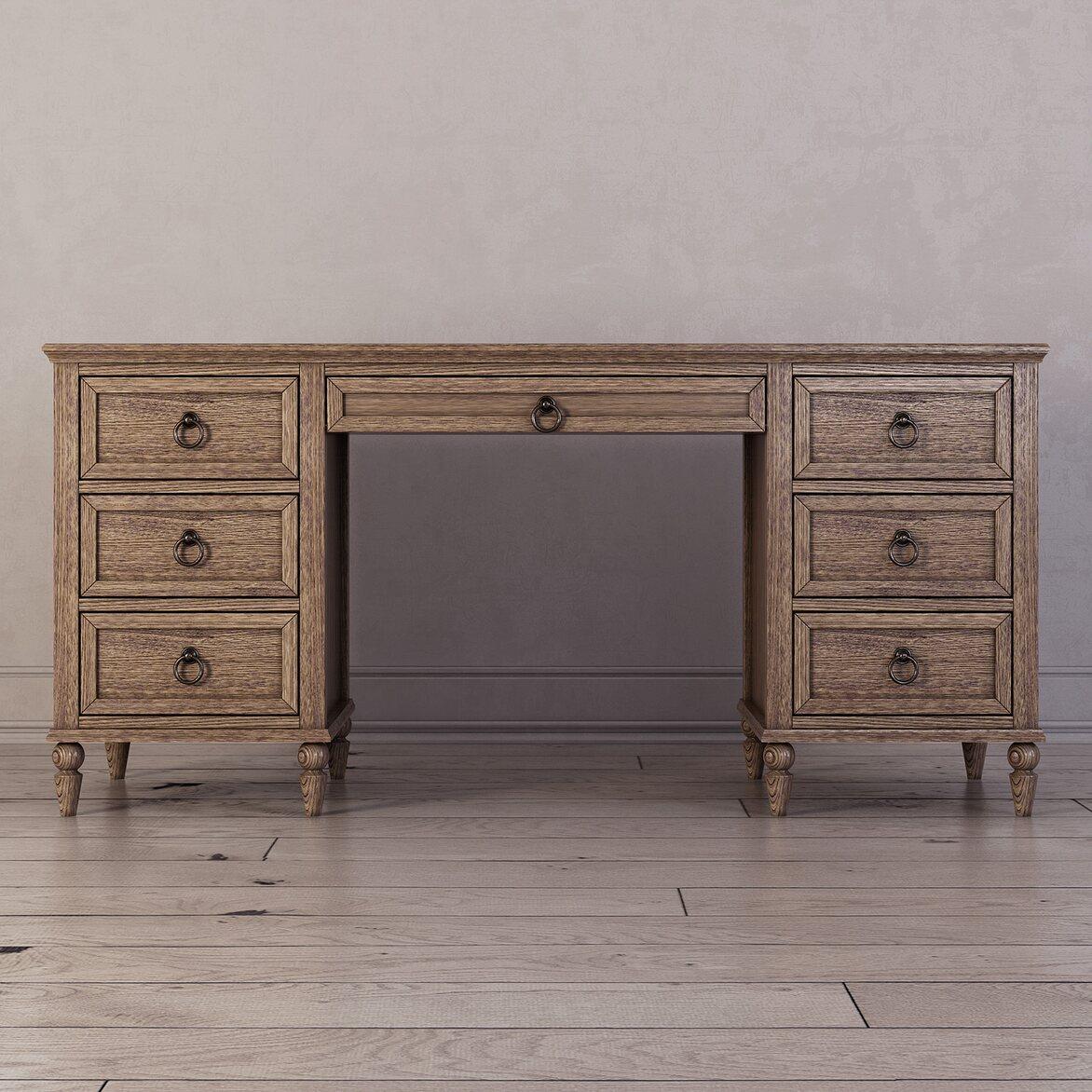 Письменный стол с ящиками Vilton, дуб | Письменные столы Kingsby