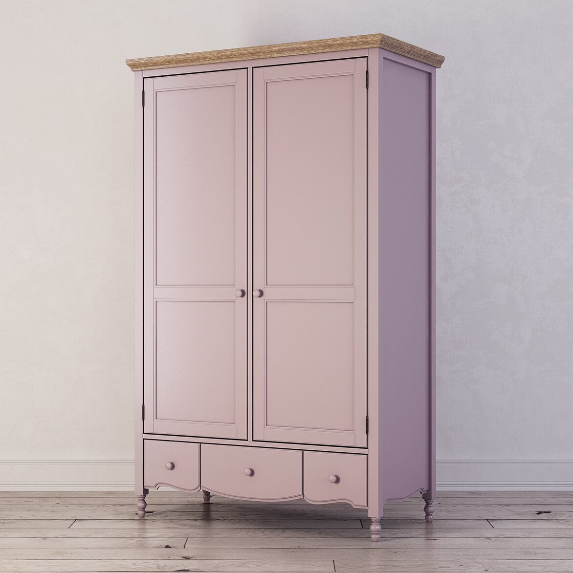 Шкаф двухстворчатый Leblanc, лаванда 2   Платяные шкафы Kingsby
