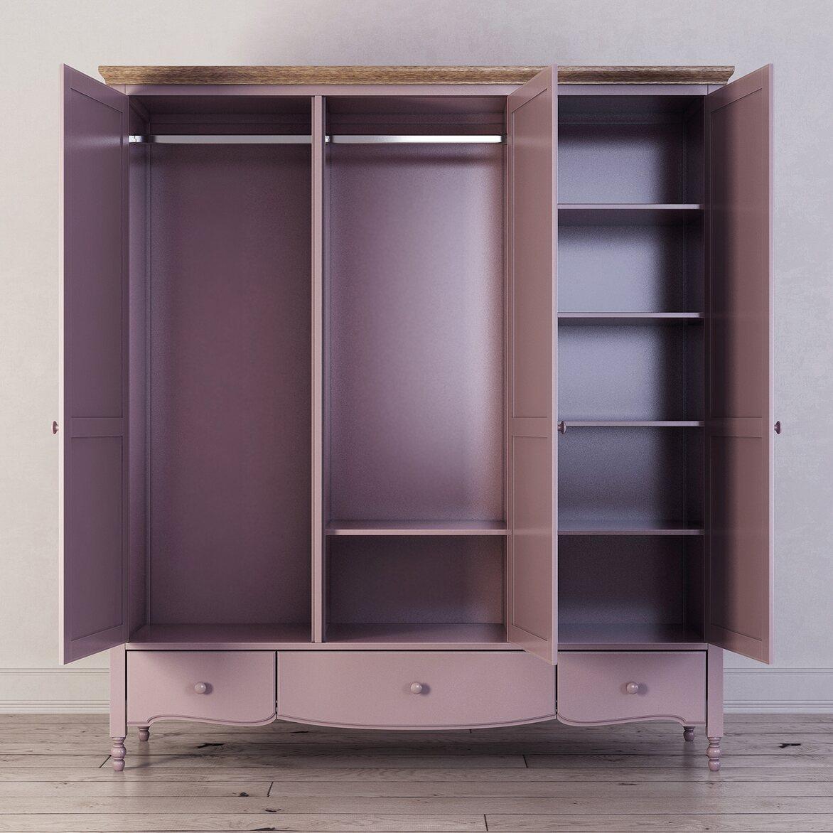 Шкаф трехстворчатый Leblanc, лаванда 3   Платяные шкафы Kingsby