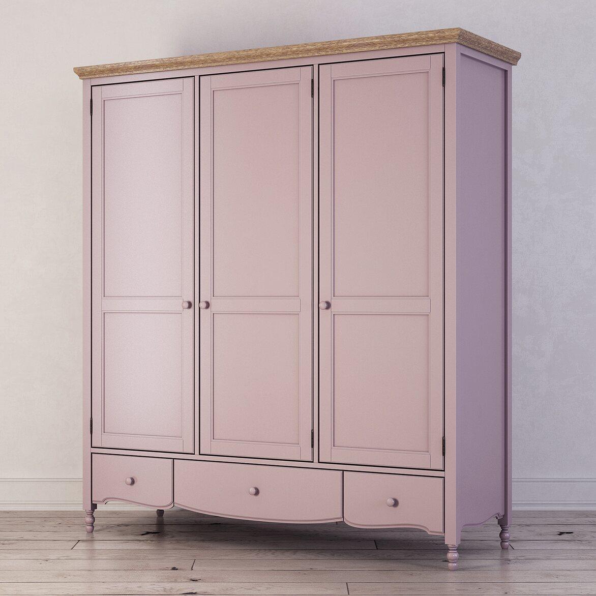 Шкаф трехстворчатый Leblanc, лаванда 2   Платяные шкафы Kingsby