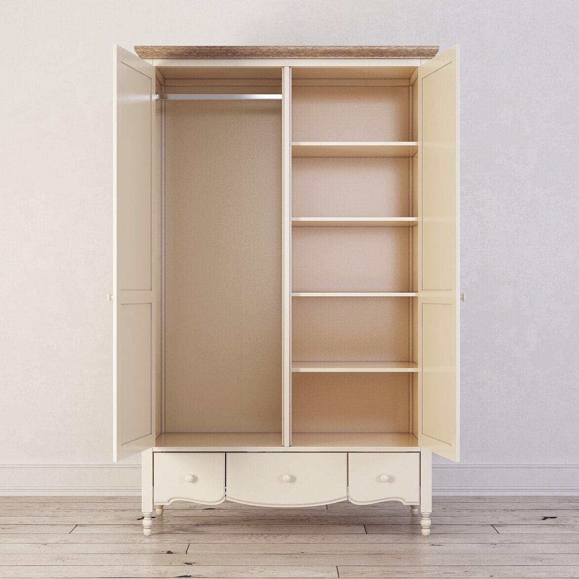 Шкаф двухстворчатый Leblanc, бежевый 2   Платяные шкафы Kingsby