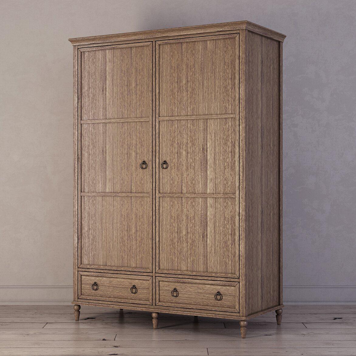 Шкаф двухстворчатый Vilton, дуб 2 | Платяные шкафы Kingsby