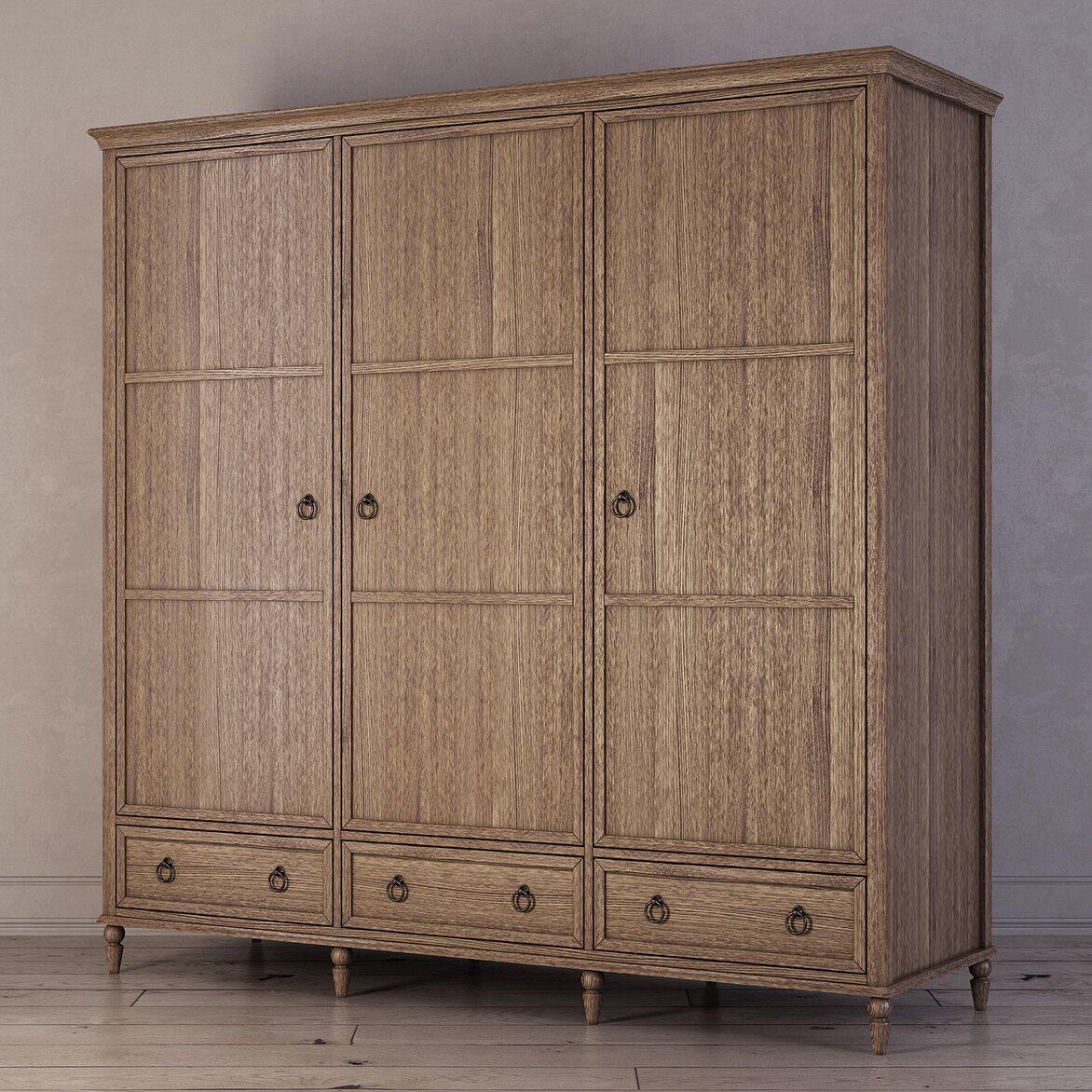 Шкаф трехстворчатый Vilton, дуб 2 | Платяные шкафы Kingsby