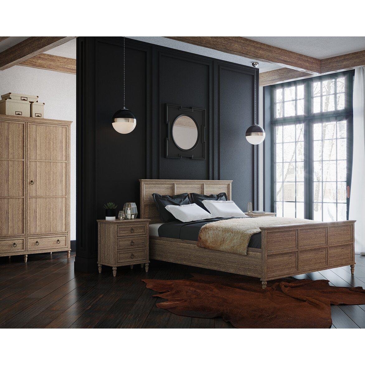 Кровать Vilton дуб, с изножьем 3 | Двуспальные кровати Kingsby