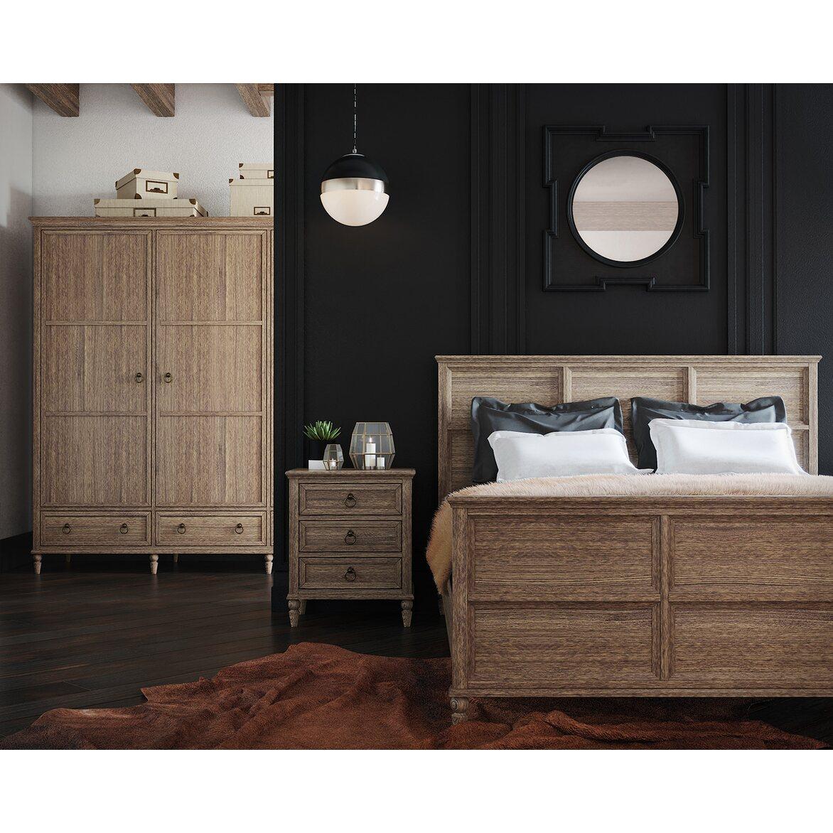 Кровать Vilton дуб, с изножьем 4 | Двуспальные кровати Kingsby