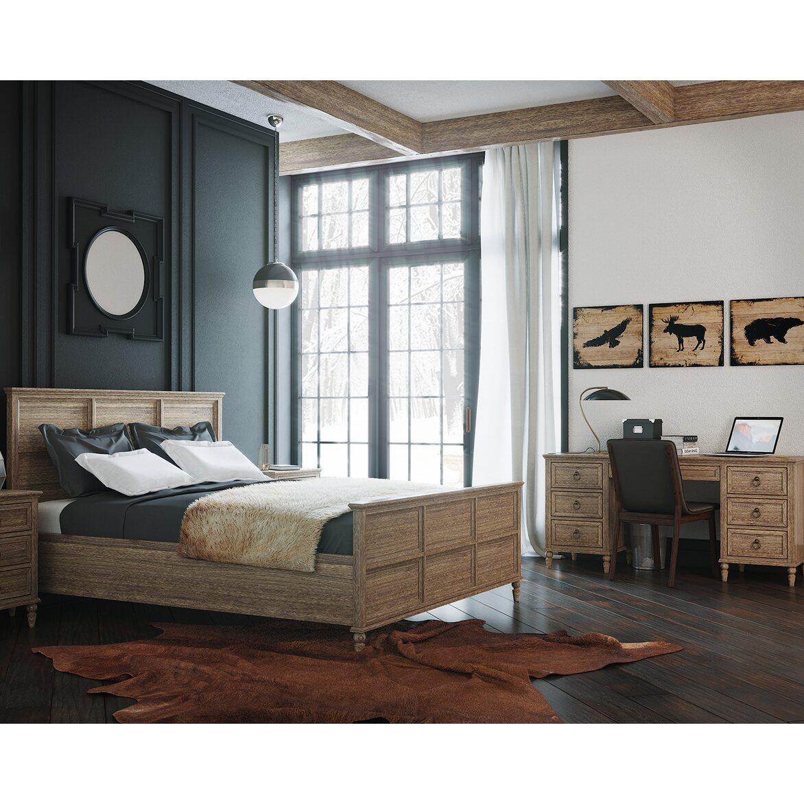 Кровать Vilton дуб, с изножьем 6 | Двуспальные кровати Kingsby