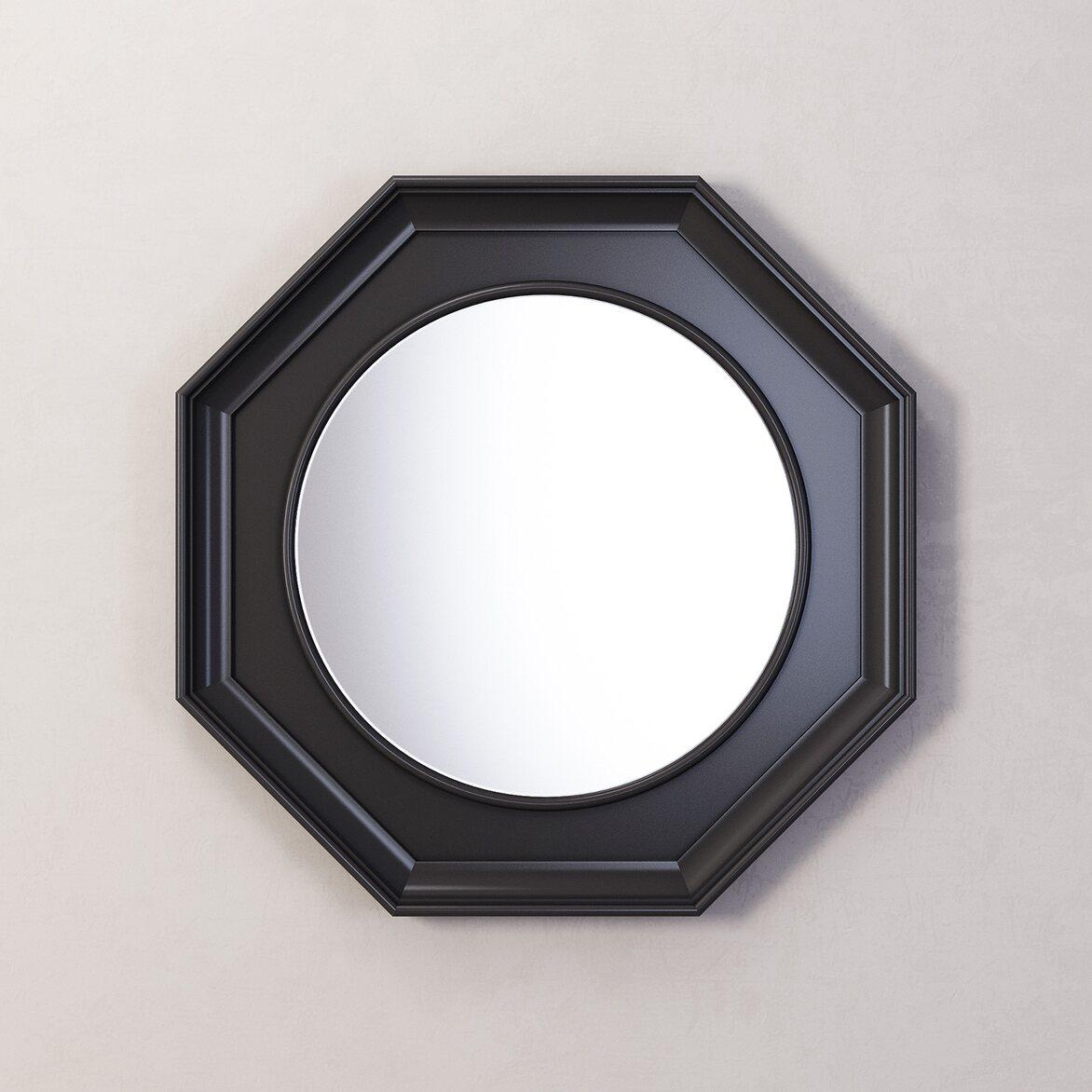 Зеркало Jersey, черное | Настенные зеркала Kingsby
