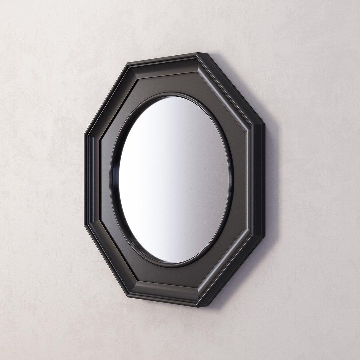 Зеркало Jersey, черное 2 | Настенные зеркала Kingsby