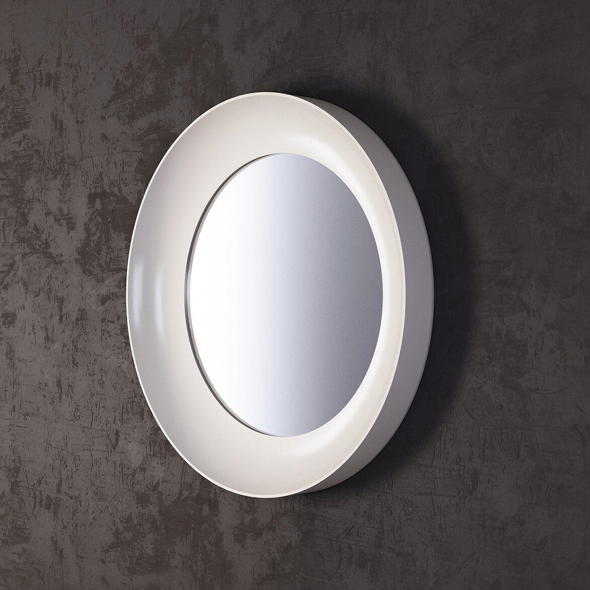 Зеркало Clayton, белое 2 | Настенные зеркала Kingsby