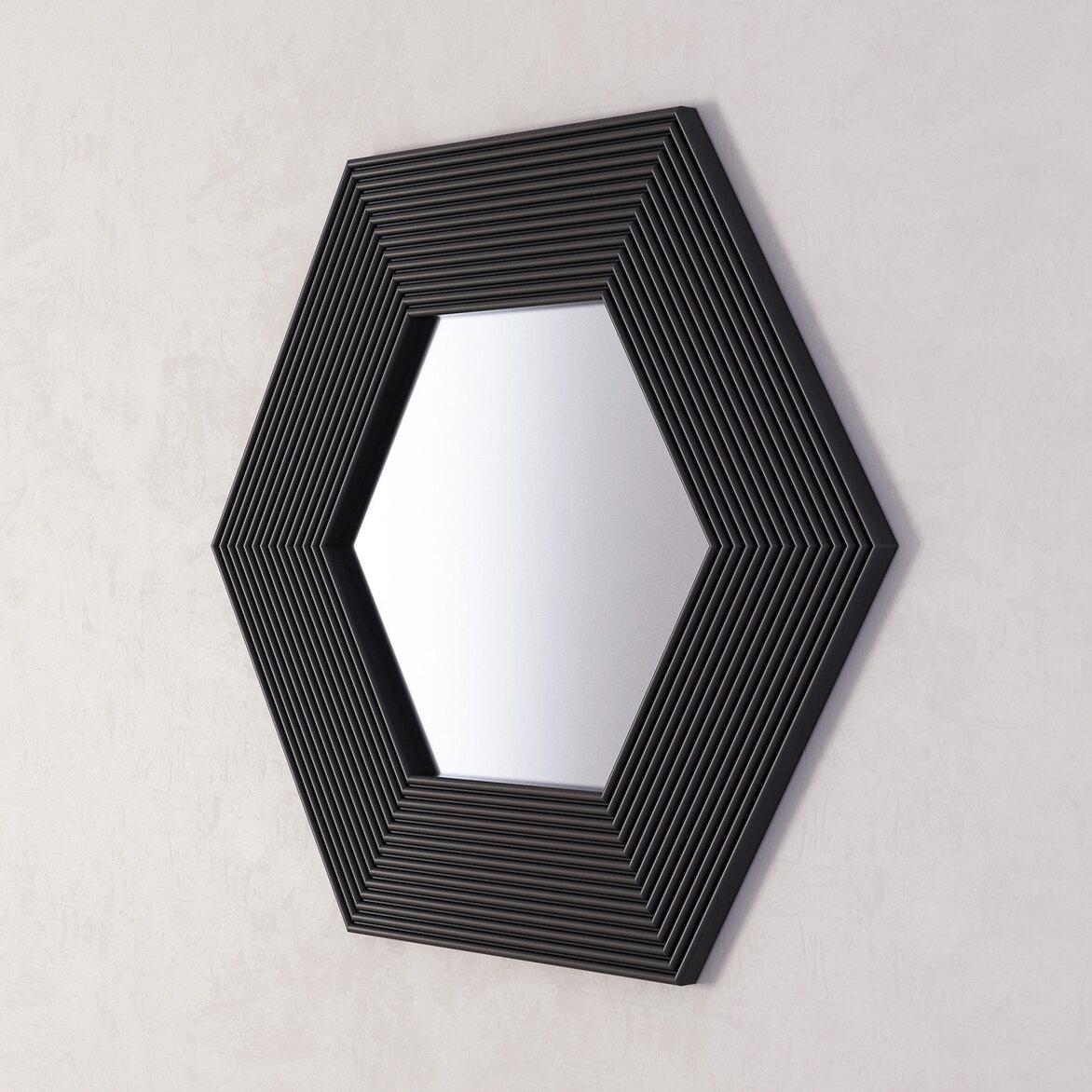 Зеркало Сorners black 2 | Настенные зеркала Kingsby