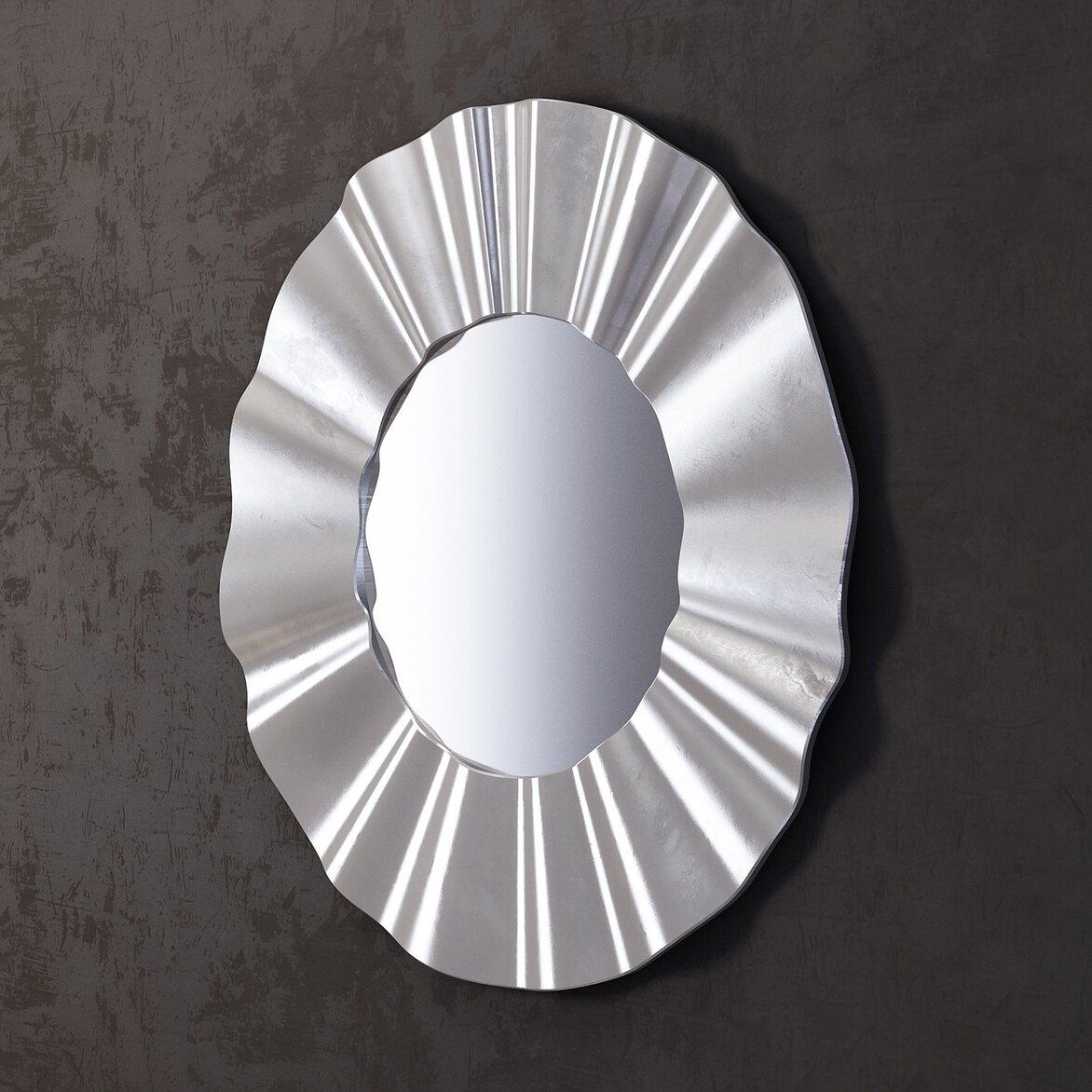 Зеркало River silver 2   Настенные зеркала Kingsby