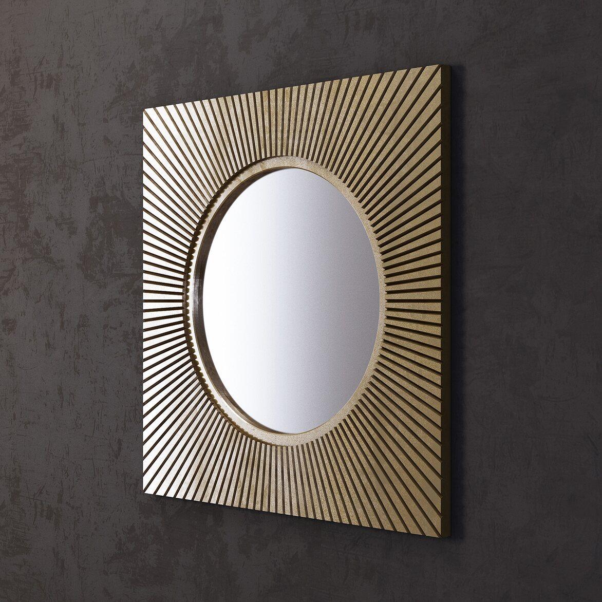 Зеркало Sunshine, квадратное 2 | Настенные зеркала Kingsby