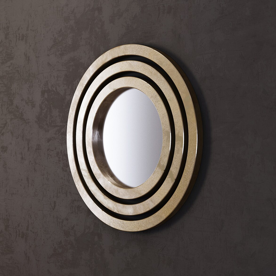 Зеркало Orion, gold 2   Настенные зеркала Kingsby