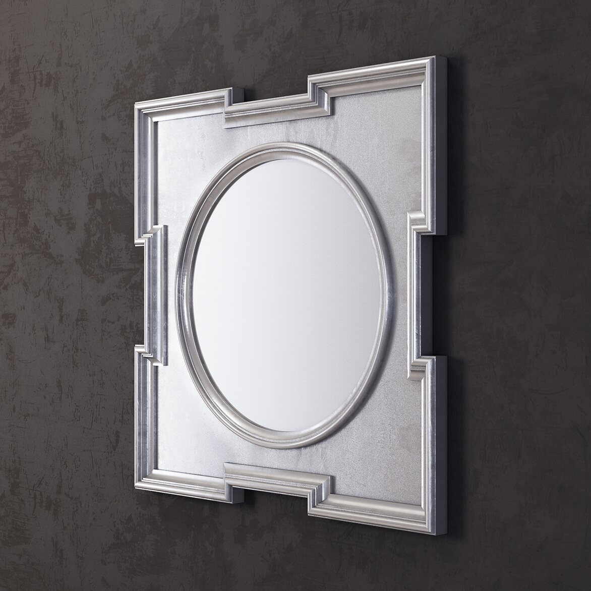 Зеркало Orlando, silver 2   Настенные зеркала Kingsby