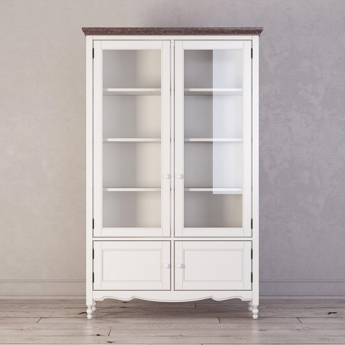Библиотека Leblanc, белая | Книжные шкафы Kingsby