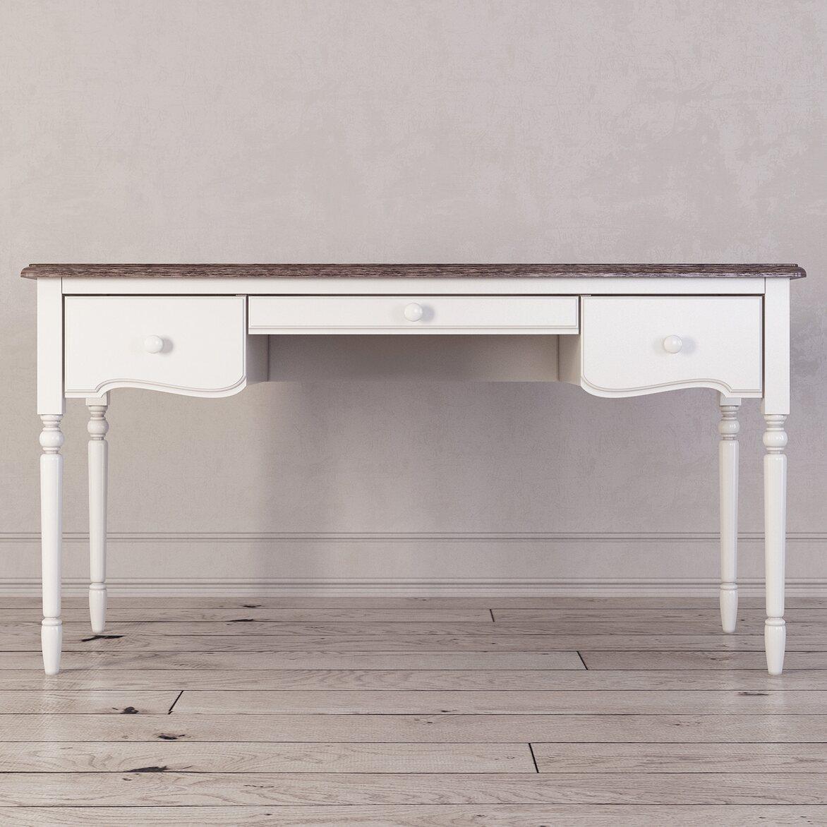 Письменный стол с 3-я ящиками Leblanc, белый | Письменные столы Kingsby