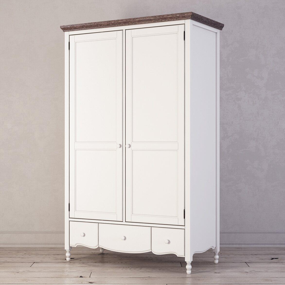 Шкаф двухстворчатый Leblanc, белый 2 | Платяные шкафы Kingsby