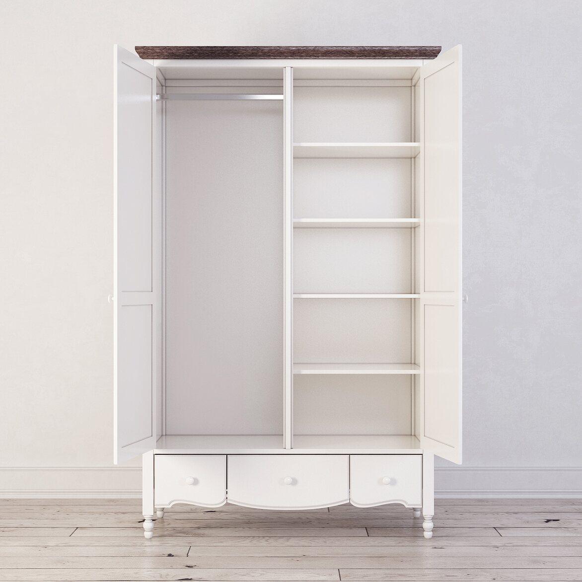 Шкаф двухстворчатый Leblanc, белый 3 | Платяные шкафы Kingsby